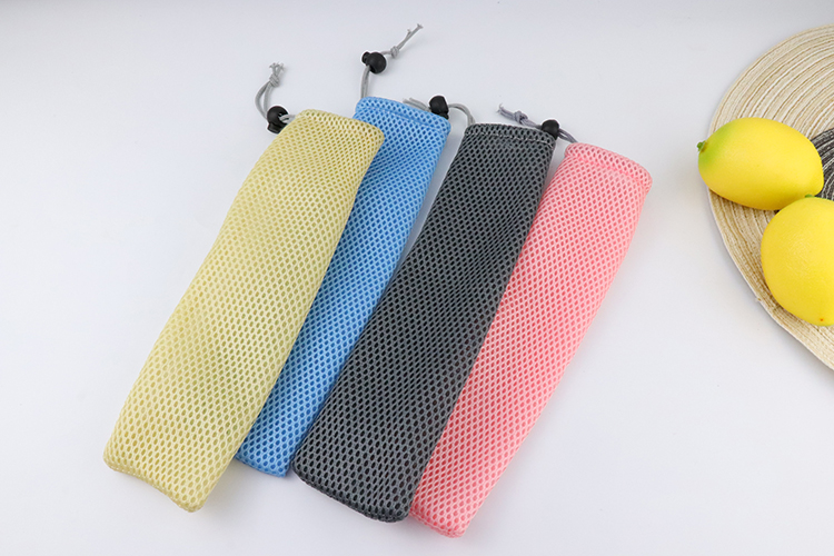 FDA approved in stocked color drinking stainless steel straws with  mesh bag