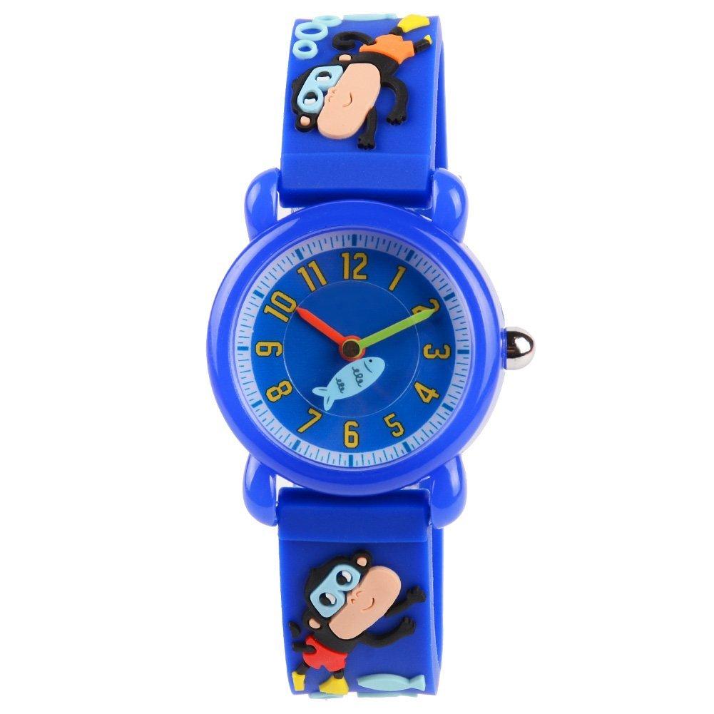 Venhoo Kids Watches 3D Cute Cartoon Waterproof Silicone Children Wrist Watches Time Teacher Gift for Boys Girls Little Child