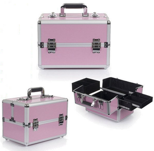 aluminum mac makeup beauty case box with aluminum case with mirror