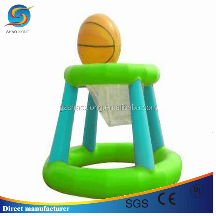 hot sale funny inflatable water float toys,inflatable water basketball hoop for water sport competition game