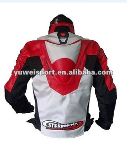 PU Leather Motorcycle Auto Racing Jacket