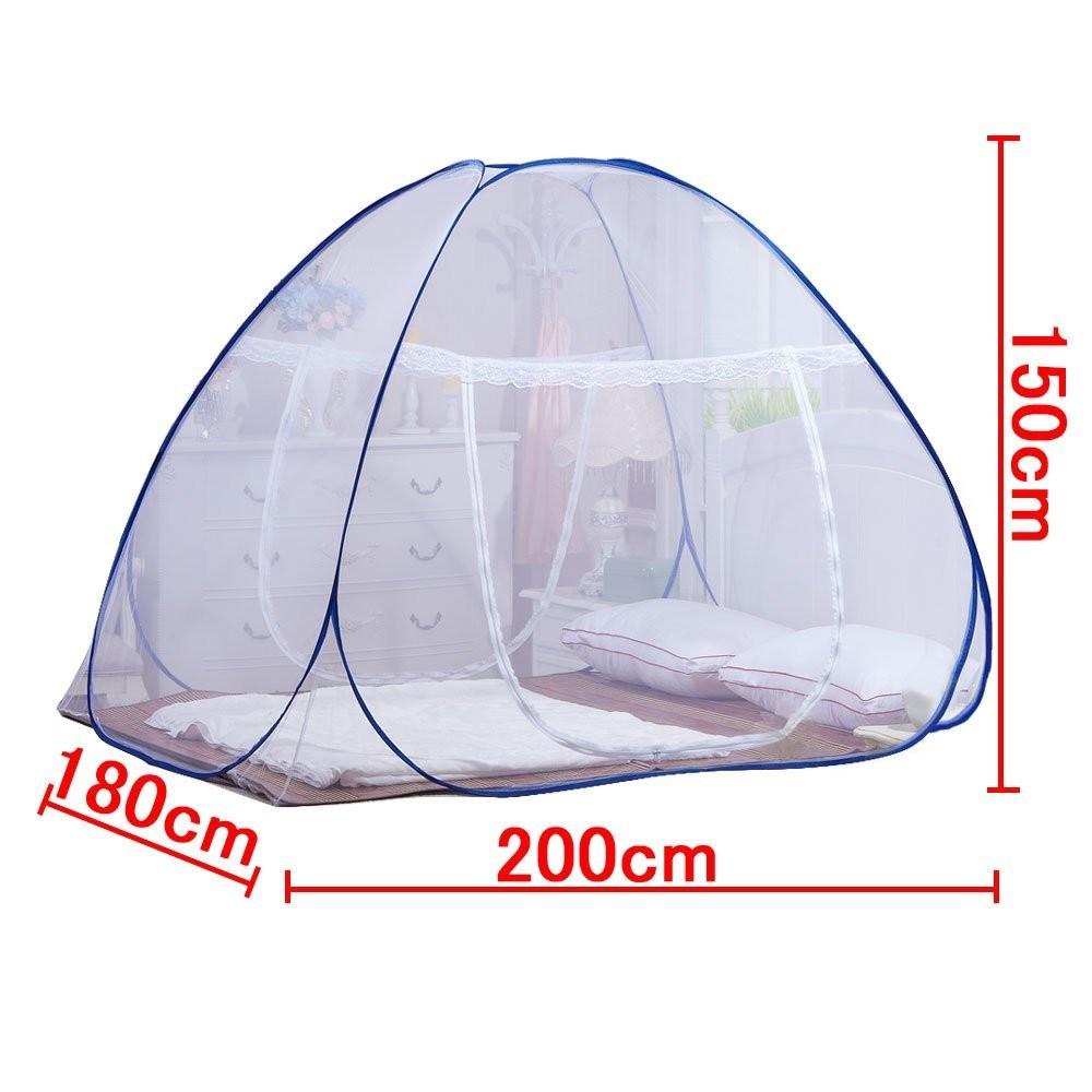One Touch Kelambu Untuk Tempat Tidur Lipat Yurt Nyamuk Tenda Bersih 180x200cm Pop Up Bayi Dewasa