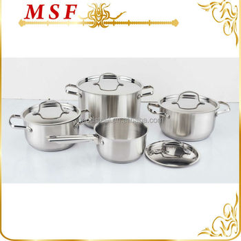 Hot sale kitchen queen 8pcs stainless steel cookware set for Kitchen queen set