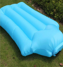 NEW INFLATABLE LOUNGER AIR LAZY SOFA BED WITH BLUE CARRY BAG