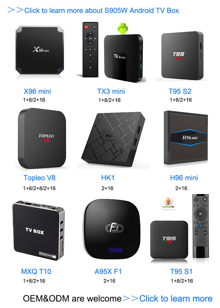 Venta al por mayor mundial mejor oferta h.265 ott android smart tv box 4 K sintonizador dual