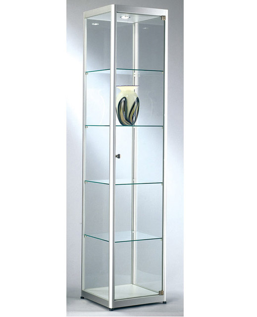 Model Display Cabinet Tall Glass Display Shelf Full Vision Glass