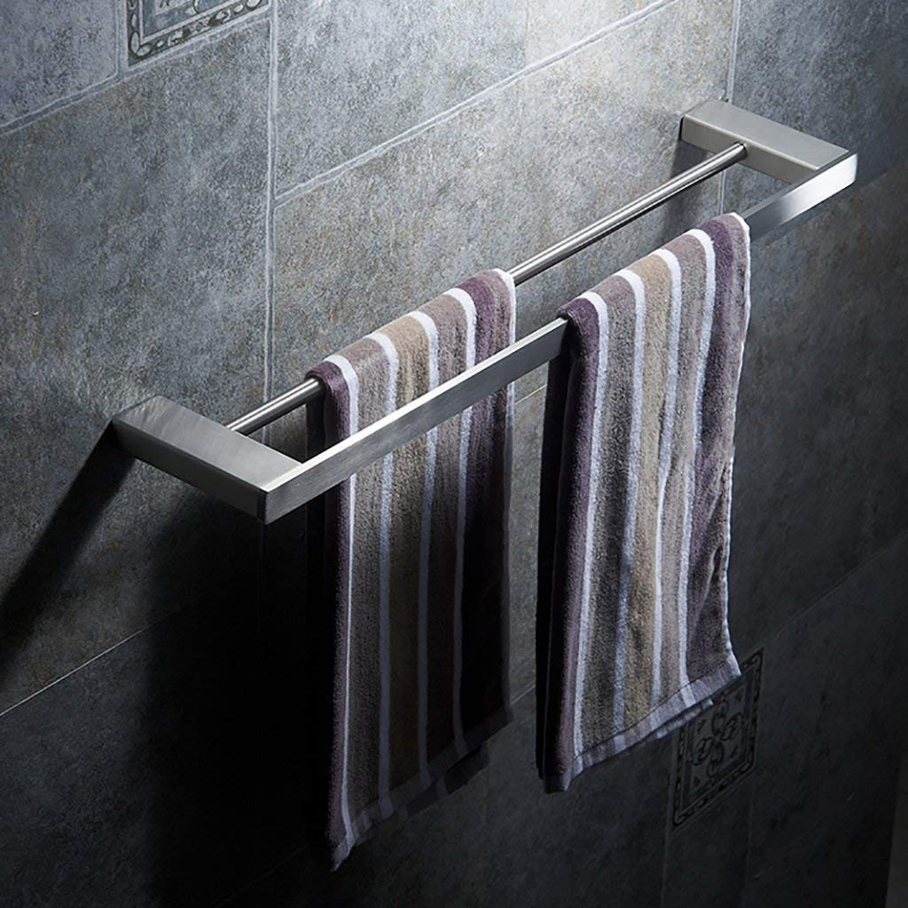 Get Quotations Eqeq Bath Room Towel Rack Wall Mount Stainless Steel Bar Double