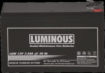 Luminous 12v 9 Ah Vrla Agm Sealed Maintenance Free Batteries