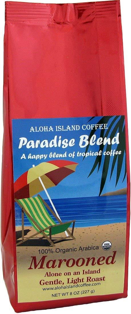 Marooned, Alone on an Island, Light Roast, Certified Organic Rain Forest Alliance Fair Trade Coffee, 8 Oz Whole Bean