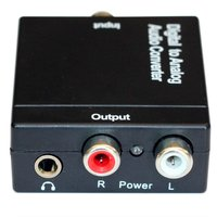 Digital to Analog RCA Fiber Optic Coaxial Toslink Audio Converter