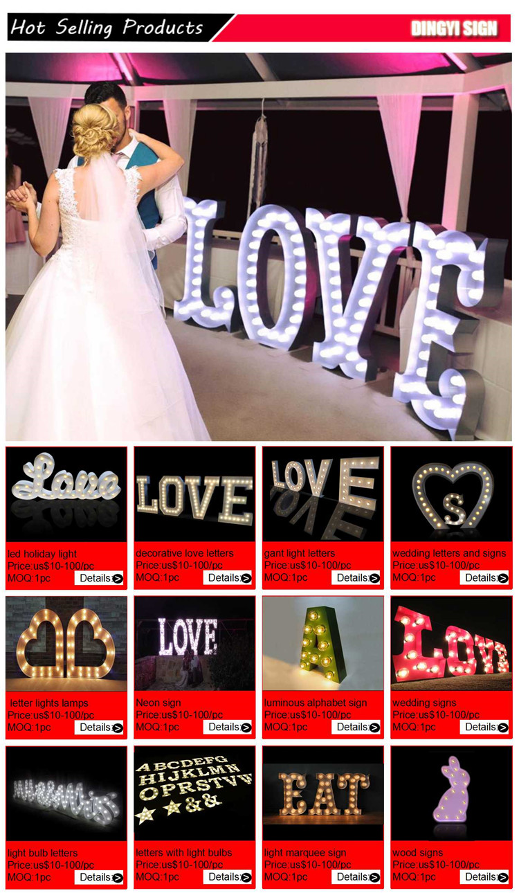 Made In China Luce Anteriore di Lettere di Amore Led Gigante
