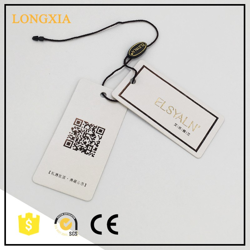Custom kraft and garment hang tag for dress