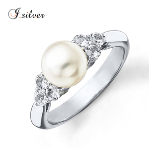 jewelry online shop Cultured silver ring with pearl Sterling Silver ring R500717