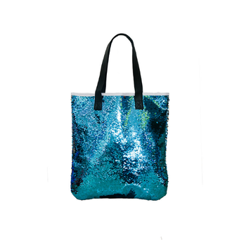 9ccc76a1dd 2018 Amazon hot selling sequin tote beach bag for women, wholesale fashion  custom polyester mermaid