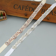 Rhinestone bridal sash belt for wedding dress