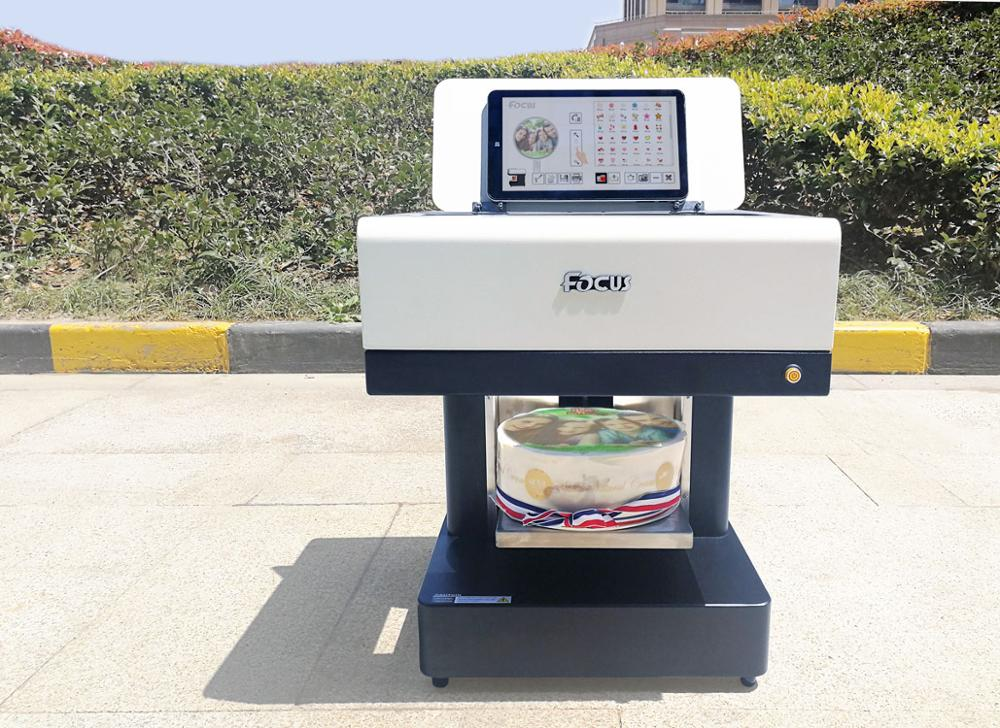 New Condition Cake Food Flatbed Printer Plate Type lets coffee printing machine