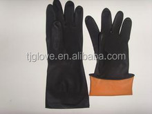Popular industrial black latex glove/made in China/50-110g