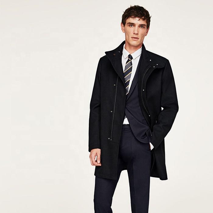 Men's 2019 A/W basic models of solid color texture coat