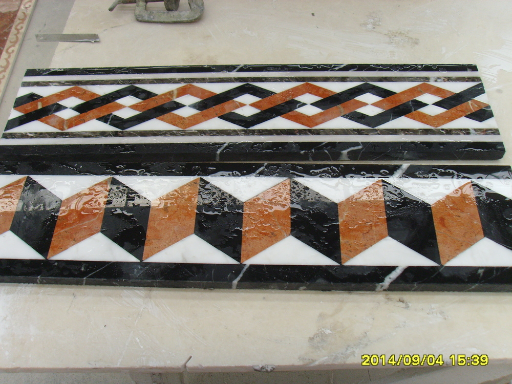 Nature custom made marble flooring border designs buy for Floor tiles border design