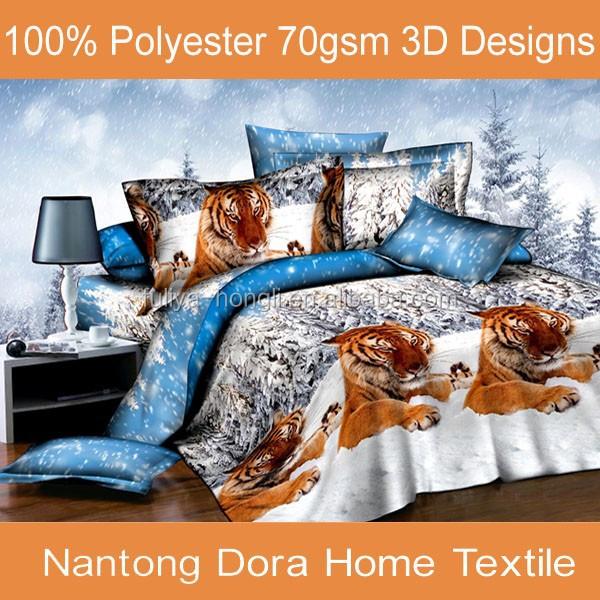 Nantong dormitorio barato poliester 70gsm 3d camas for Conjunto dormitorio barato
