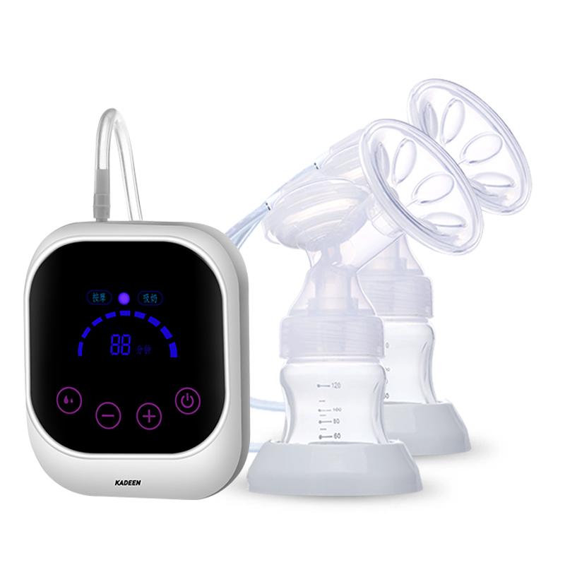 مضخة ثدي كهربائية, مضخة ثدي مزدوجة خالية من مادة BPA تعمل باللمس بالكامل