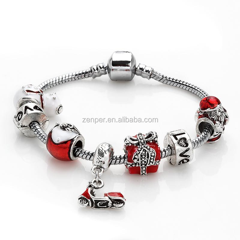 Bella amore pendente di fascino del braccialetto braccialetti slap