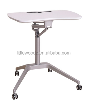 Air Lift Movable One Leg Height Adjustable Folding Training Table