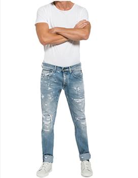 2035123825 Nuevo Diseño Ripped Denim Jeans Pantalones