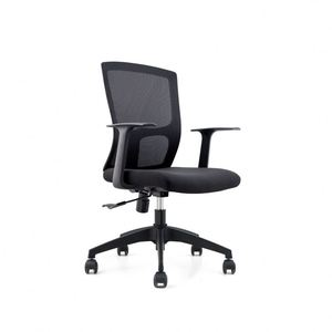 2019 modern office chair ergonomic office mesh chair aluminum web black mesh office chair
