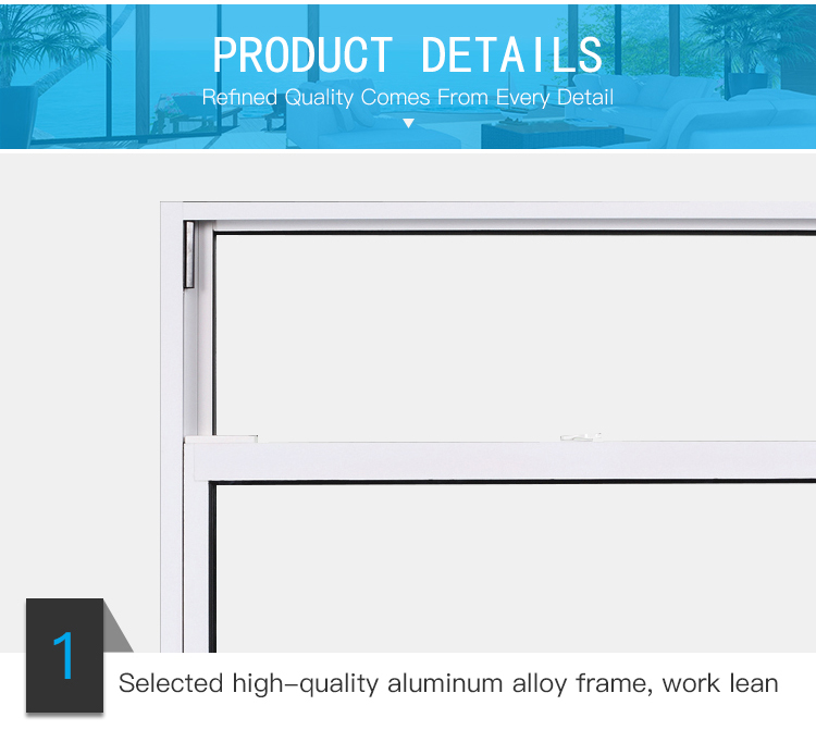 Hot sales aluminum glazed double hung vertical slide windows