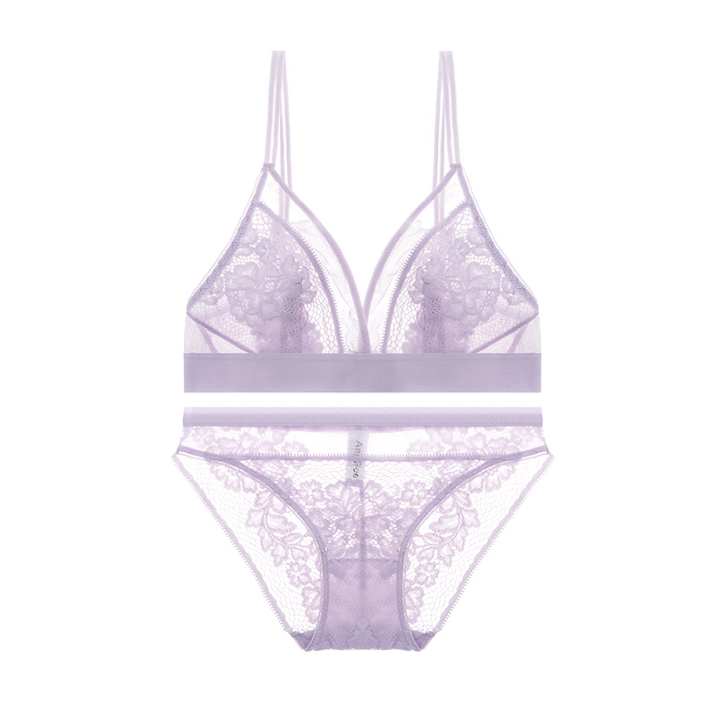 Varsbaby сексуальное ультратонкое Прозрачное нижнее белье удобные комплекты бюстгальтеров с вышивкой(Китай)