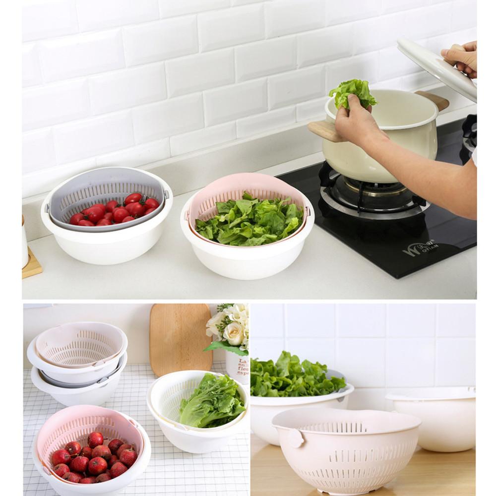 Colador Doble Escurridor Para Cocina Utensilios De Cocina Reutilizables Para Fideos Verduras Frutas Bar Aliexpress