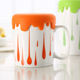 China supplier wholesale customized 17 oz large ceramic mug cup cover, ceramic travel mug with lid and handle