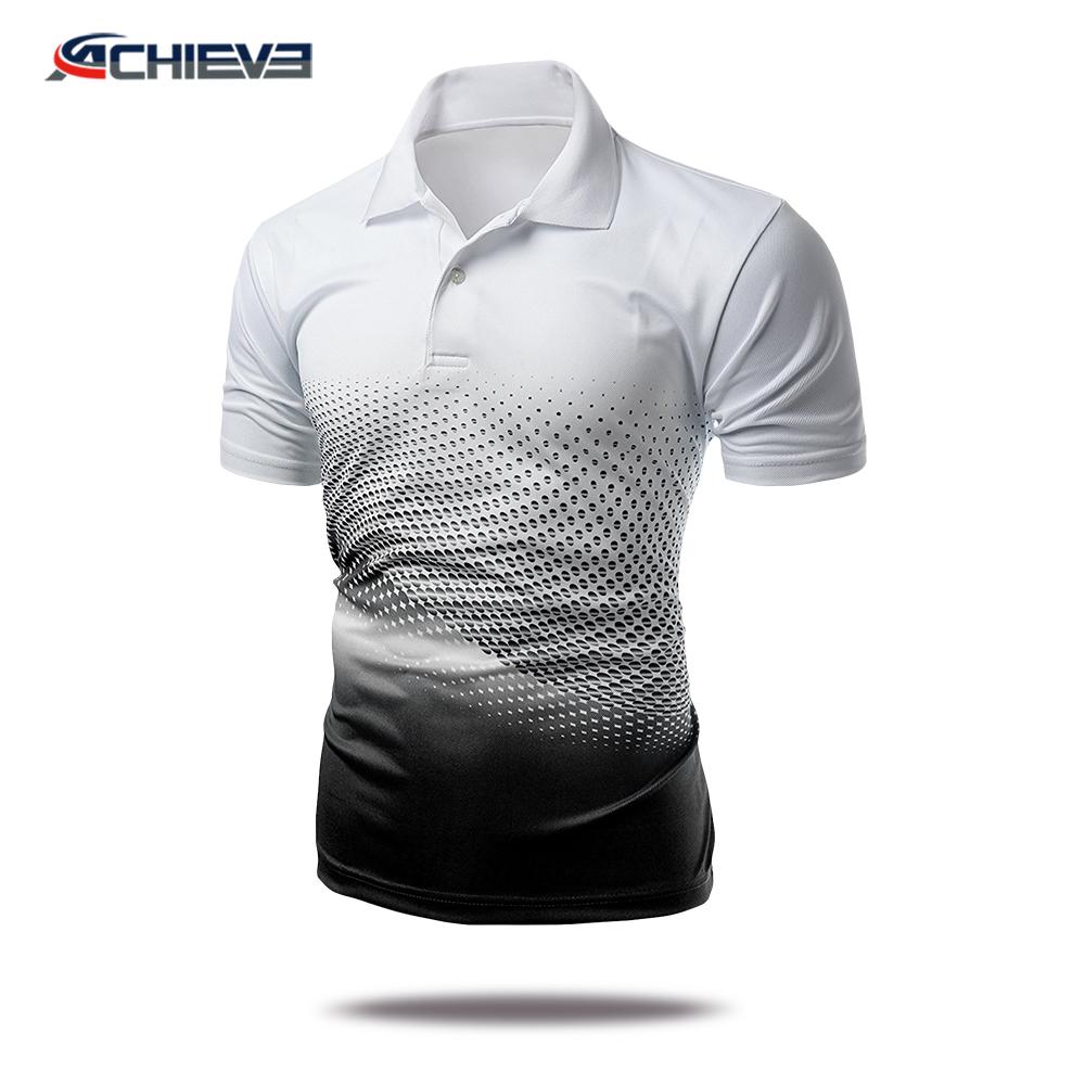 New Design Custom Sublimation Polyester Polo Shirts Sublimation Men