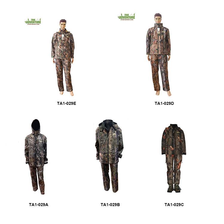 Jeu pour homme Pursuit Réversible Camouflage Armée Chasse Tir Pêche Veste