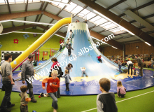 Vivid Kids Climbing Indoor Volcano with Slide