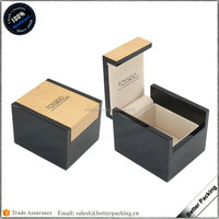 JBW160 Custom Logo Unique Wooden Lacquer Tie Gift Packaging Jewelry Box