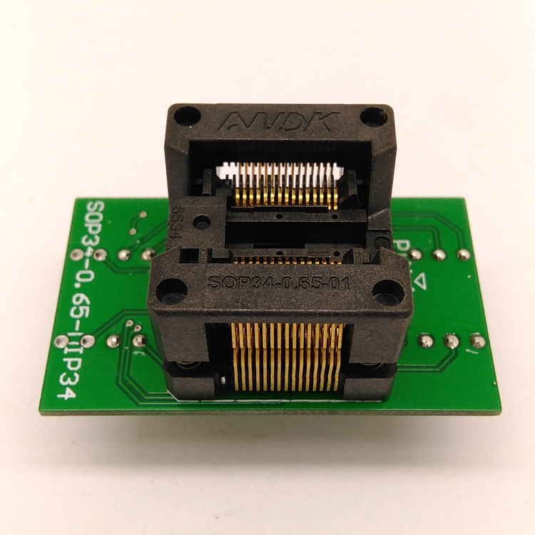 SSOP30(34)-0.65 SSOP30 TSSOP30 to DIP30 Programming Socket Adapter Pitch 0.65mm IC Body Width 5.3-5.7mm 208mil-224mil Flash Chip Test Socket