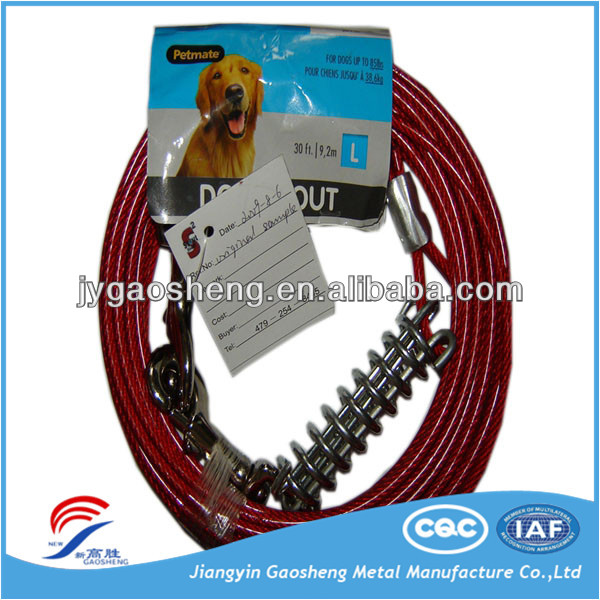 2016 Promotional Pet Dog Steel Wire Rope Chain Leash