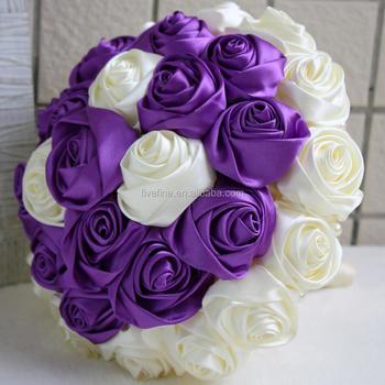 Elegan Mewah Bunga Sutra Ungu Bros Pernikahan Karangan Bunga Buy