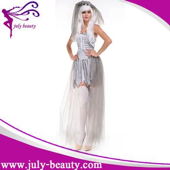 Adult Ladies Zombie Gothic Corpse Bride Halloween Fancy Dress Costume