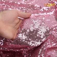 Ткань с блестками серебристого/розового золота, двусторонняя эластичная ткань из спандекса для шитья платьев(Китай)