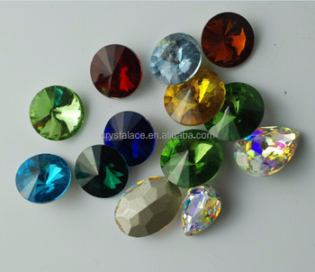16mm rivoli crystal stones, fancy glass beads