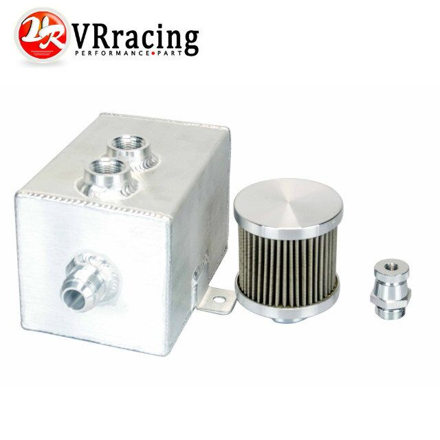 Vr гонки u-1l алюминий маслоуловитель бак с и канализация нажмите 1LT baffled VR9491