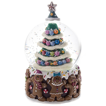 Unique Resin Santa Snow Ball Christmas tree Christmas Decoration or Gift