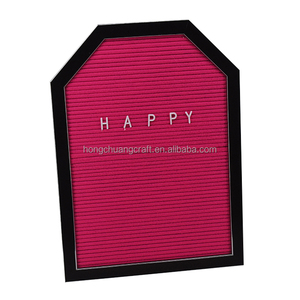 New design felt letter board with plastic frame for wall hanging