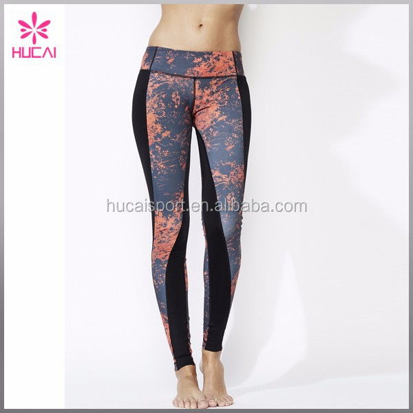 Dry Fit Fitness Sportswear/ Yoga Gear Wholesale Printed Yoga Pants Custom Woman Running Tights