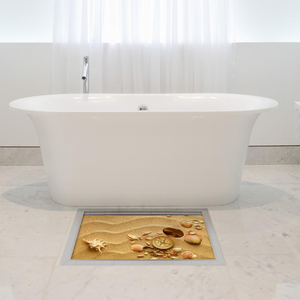 3d Floor Stickers Waterproof Bath Mat No Slip Home