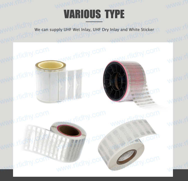 Long Range Top Quality 9662 UHF Wet Inlay Transparent Alien H3 RFID Tag
