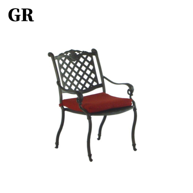 Factory High Quality Garden Furniture Aluminium Outdoor Dining Chair
